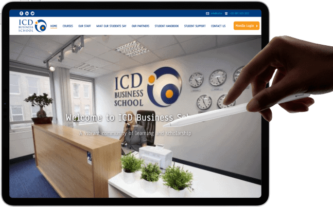 ICD web design project ireland